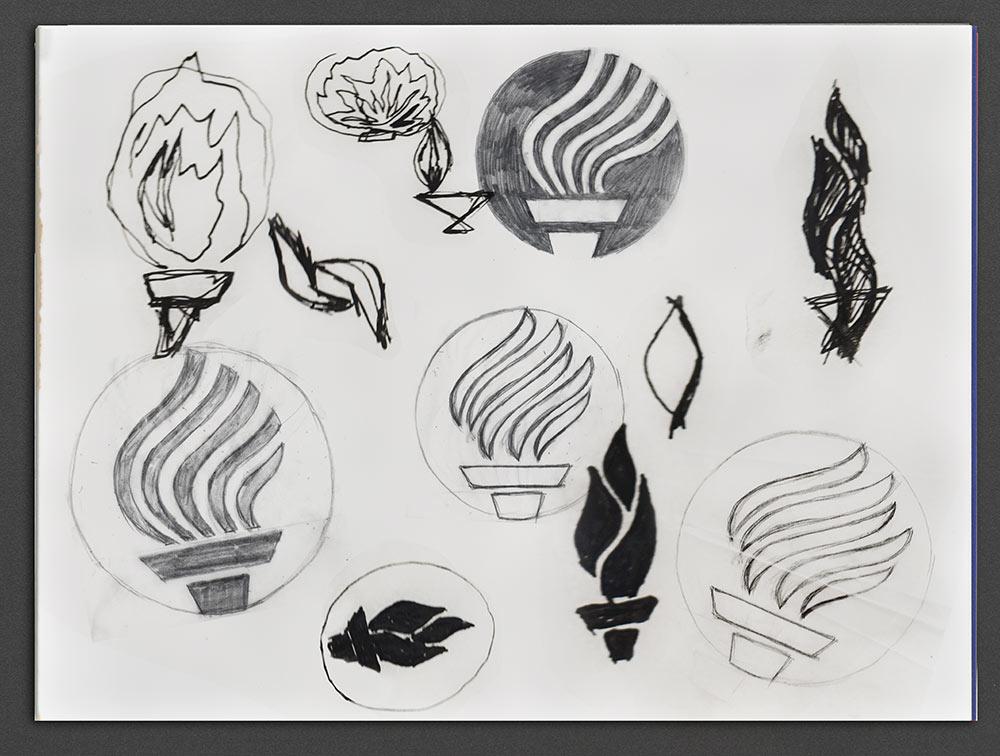 Tec de Monterrey logo sketches