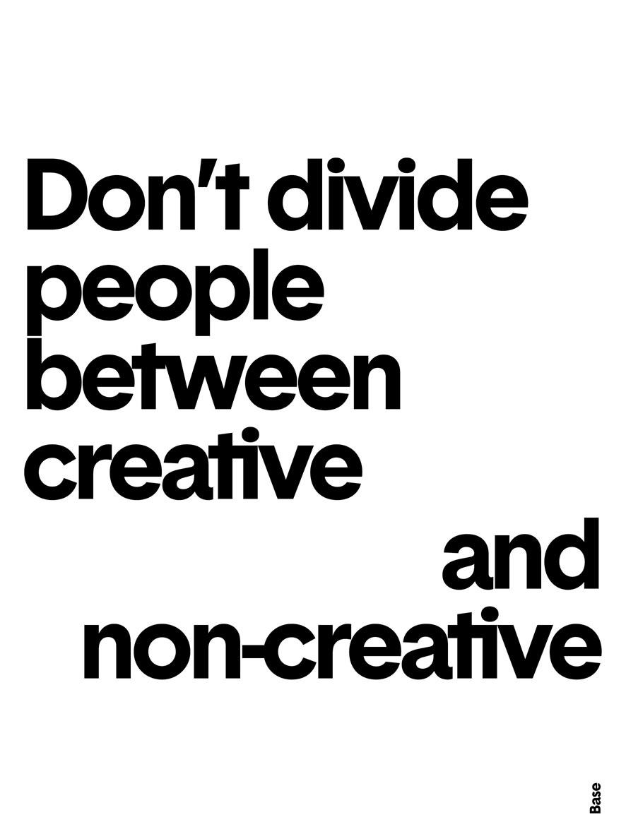 Creative, non-creative