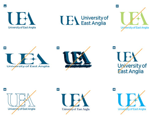 University of East Anglia logo guidelines