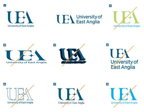 University of East Anglia logo guidelines