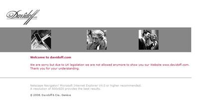 Davidoff website