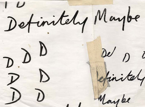 Definitely Maybe logo sketch