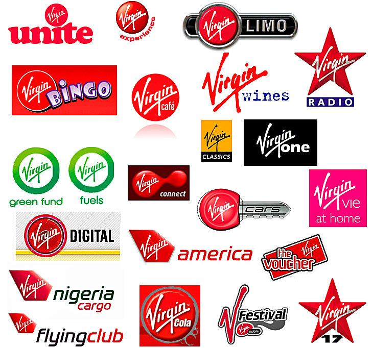 Red Clothing Brand Logos Virgin logos and the m...