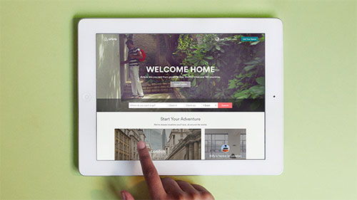 "airbnb-tablet-website Airbnb introduces ""the Bélo"" design tips"