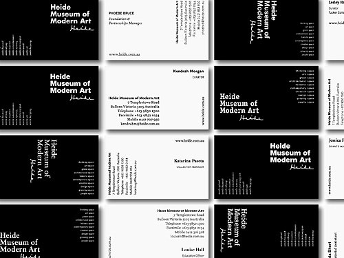 Heide Museum of Modern Art identity design