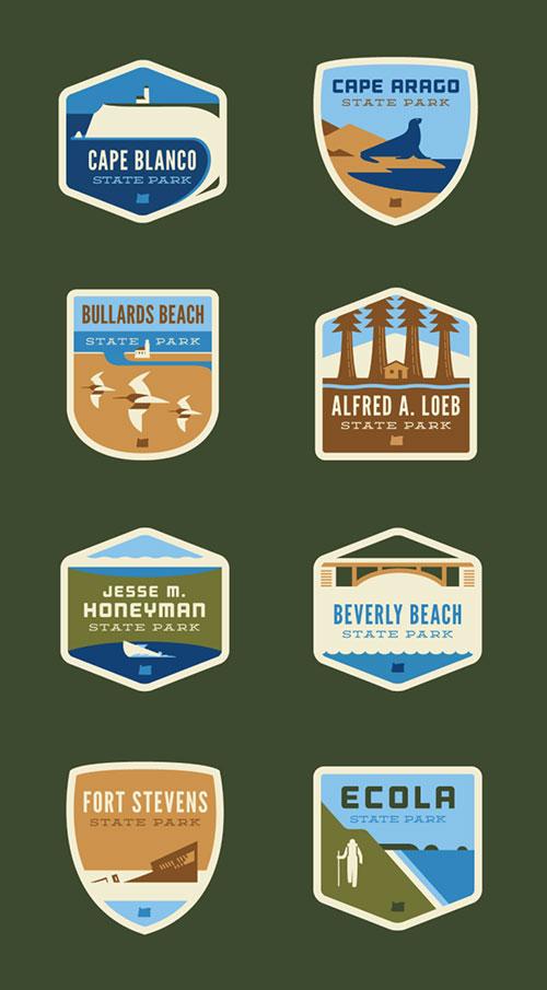 Oregon State park logos