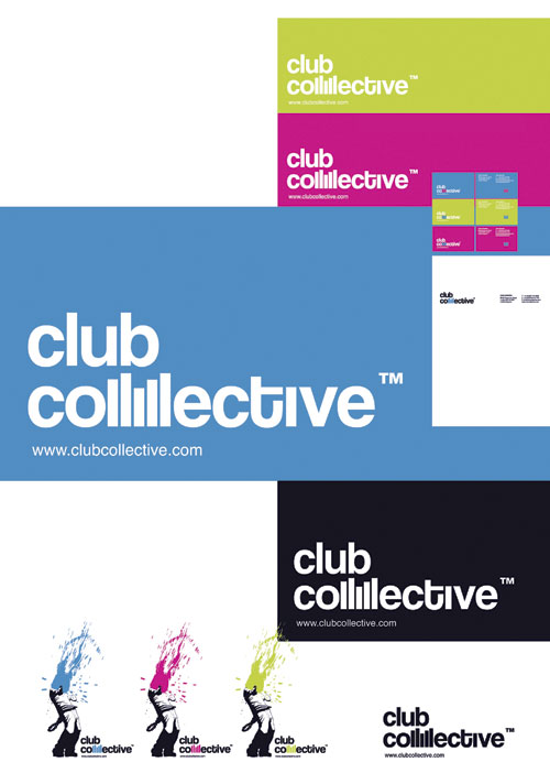 Club Collective stationery design