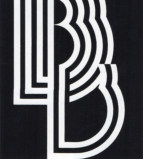 An alphabet of monograms logo design love for B b design