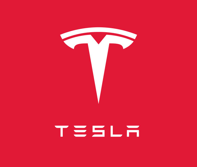 the tesla motors logo is a cross section of an electric motor