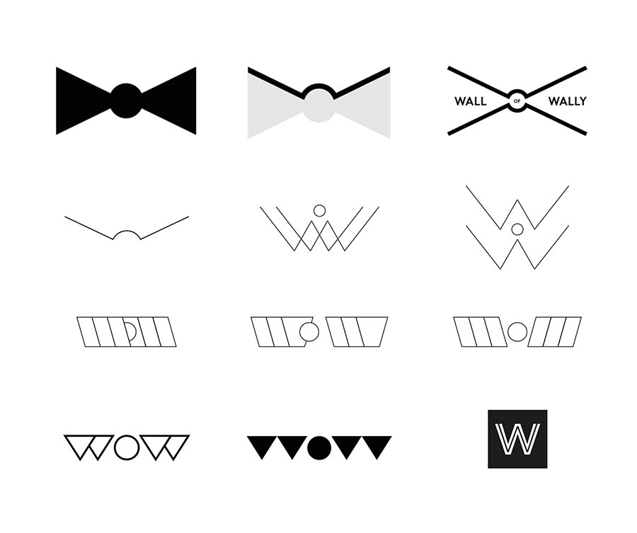Wall of Wally logo experiments
