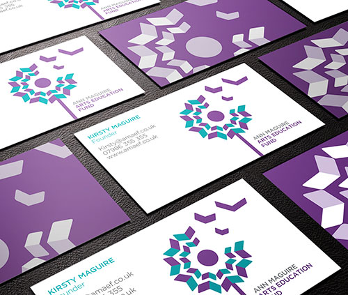 ann-maguire-fund-business-card Ann Maguire Arts Education Fund design tips