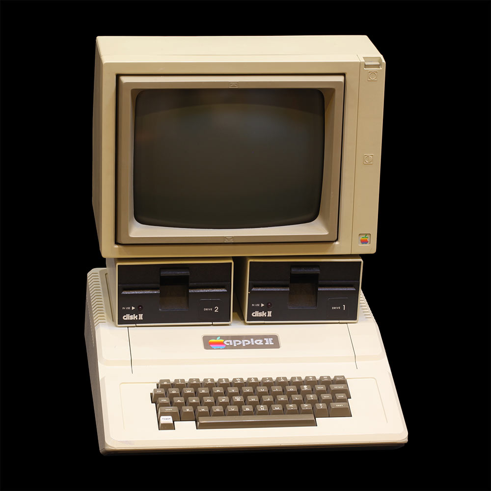 Introduced in 1977, the Apple II was the first consumer product sold ...