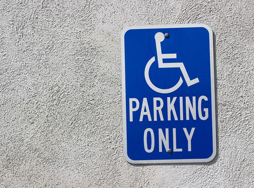 Wheelchair parking only