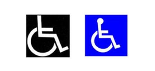 Wheelchair symbol Susanne Koefoed