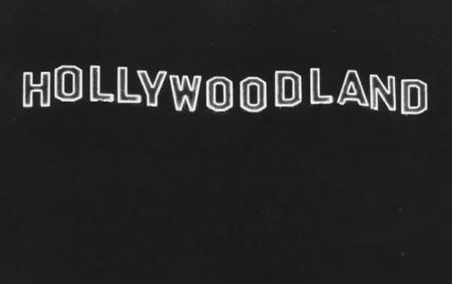Hollywoodland sign at night