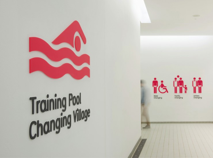 London Aquatics Centre wayfinding