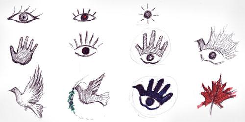 Dove hand logo