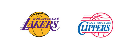 la lakers la clippers logos