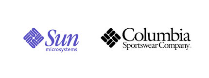 sun microsystems columbia sportswear logos