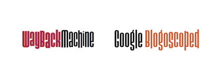 wayback machine google blogoscoped logos