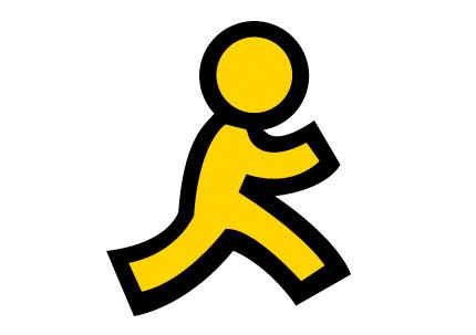 AOL running man logo