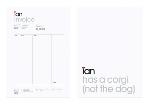 Ian The Plumber invoice