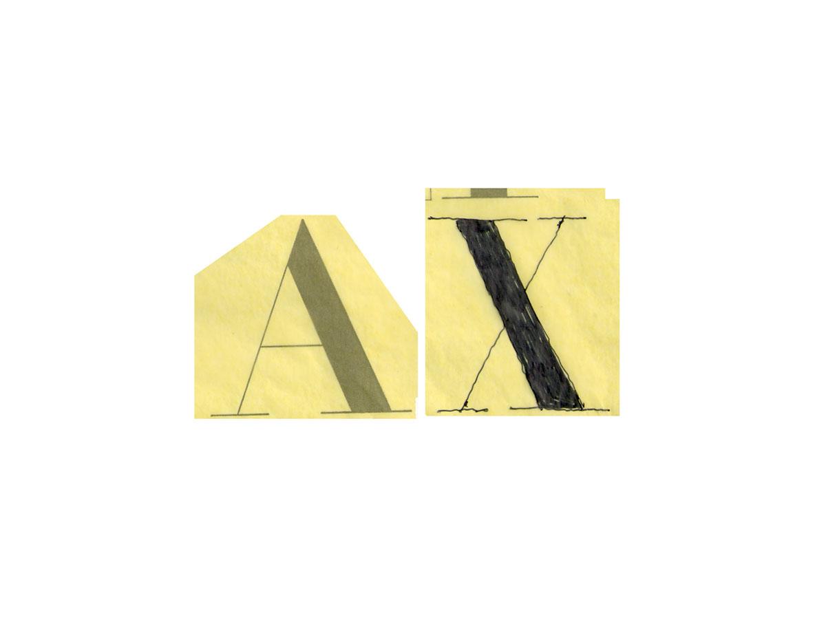AX logo sketch