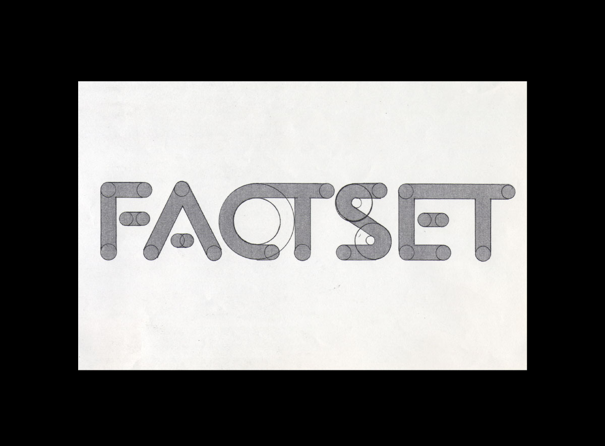 Factset Research Systems logo sketch