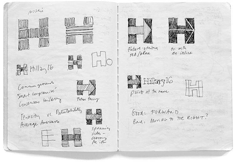 Hillary Clinton logo sketches