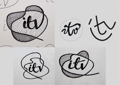 ITV logo sketches