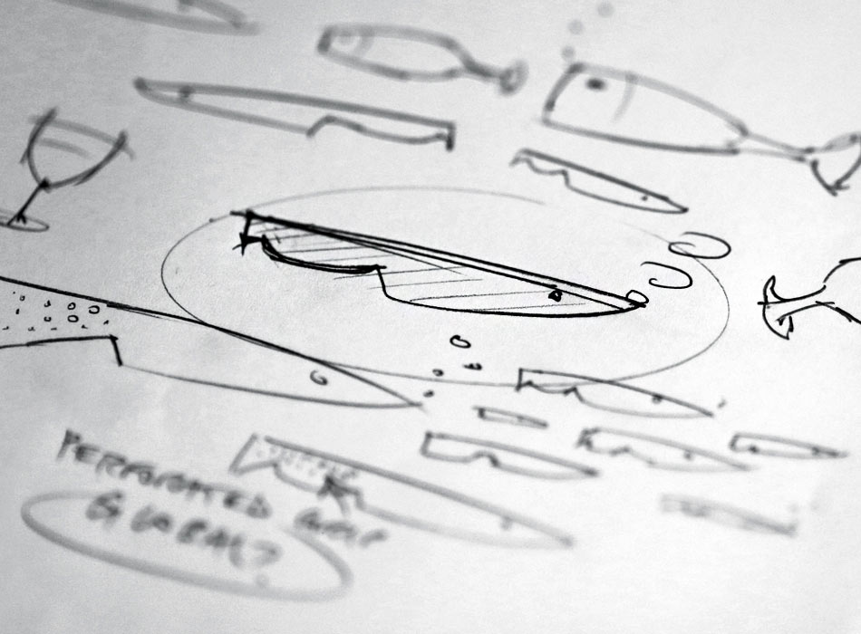 Longsands Fish Kitchen logo sketches