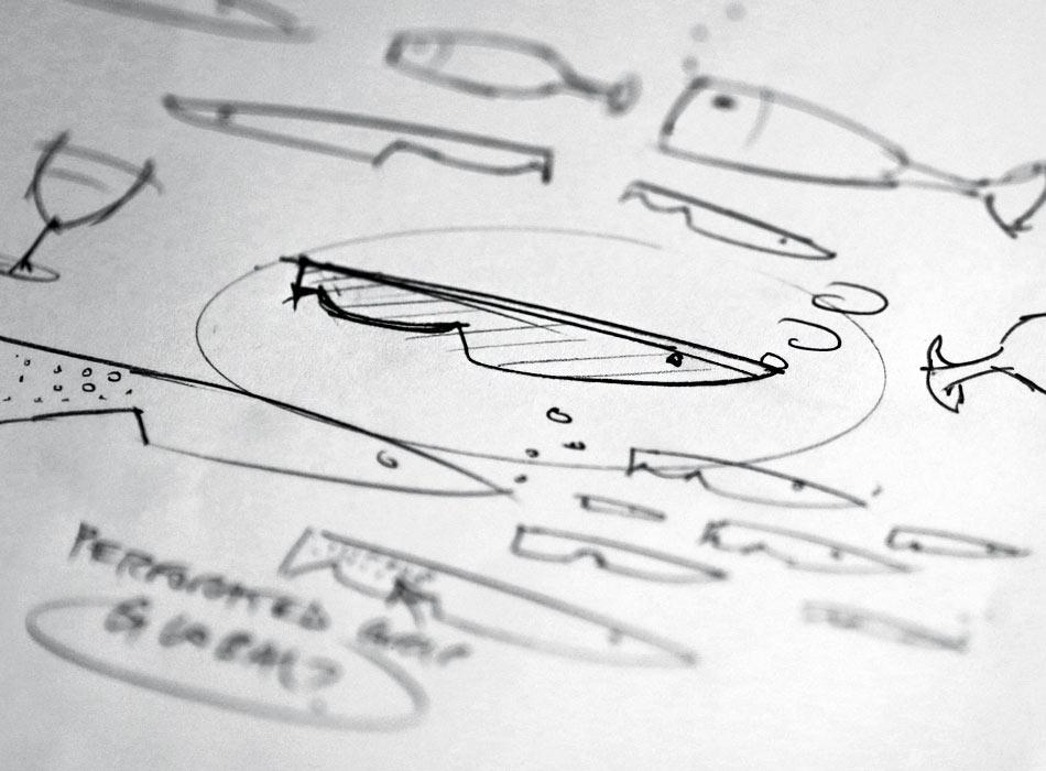 Longsands Fish Kitchen logo sketches