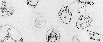Maggie Macnab logo design sketch