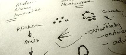 Qlicks logo sketches