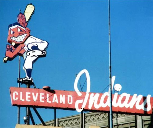 Chief Wahoo signage
