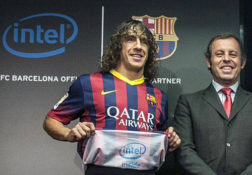 Intel Inside Barcelona shirt sponsor