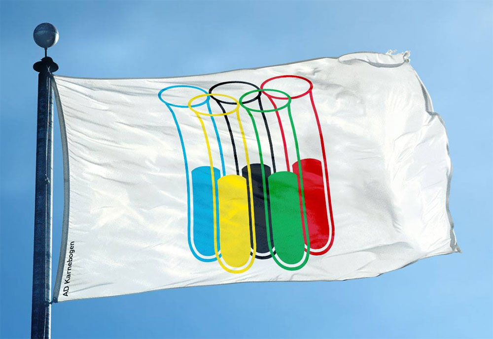 Olympics logo test tube