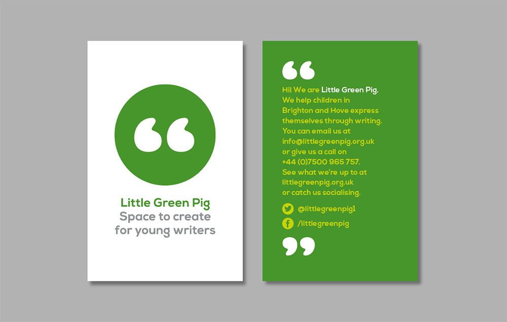 Little Green Pig business card
