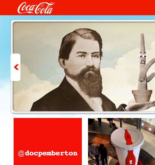 Coca-Cola website screenshot