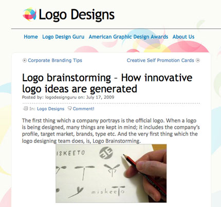 Logo Design Guru blog screenshot