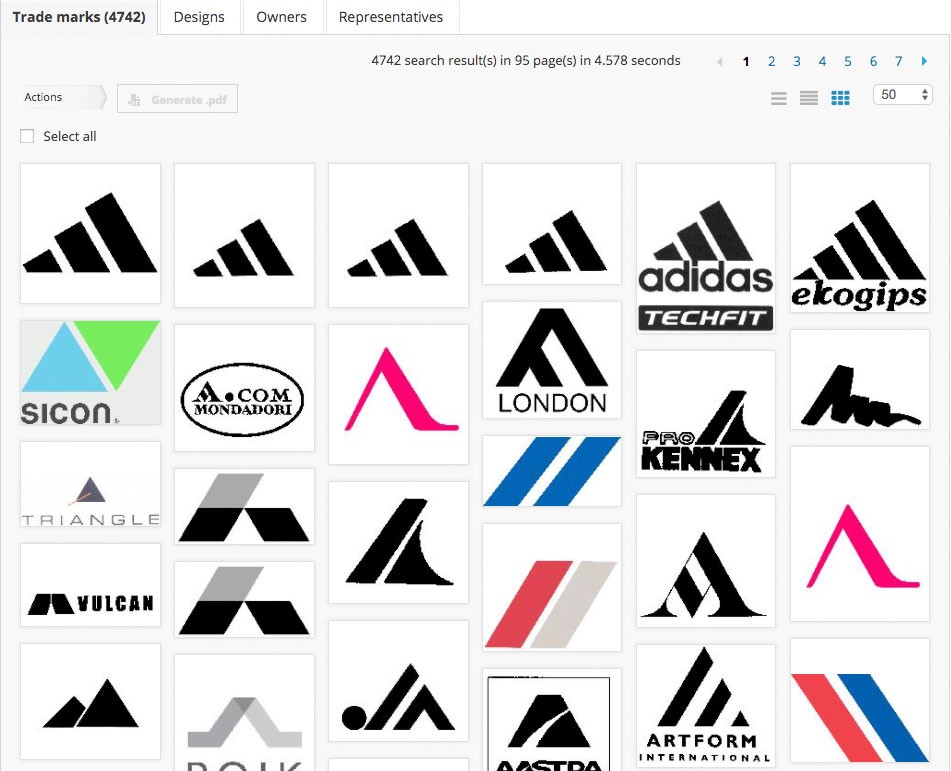 TrademarkVision uses image recognition to search for similar trademarks