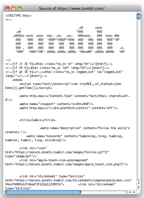 Tumblr source code logo