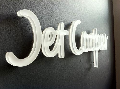 Jet Cooper logo signage