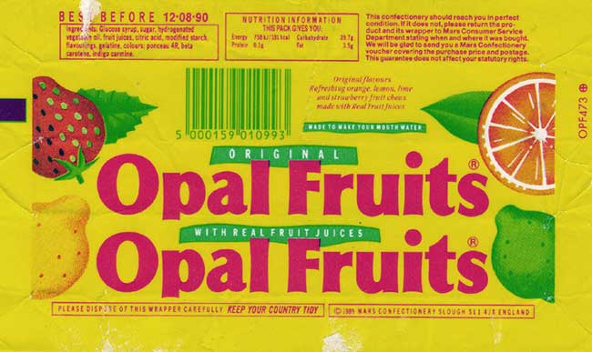 Opal Fruits packaging