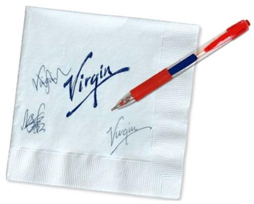Virgin logo sketch