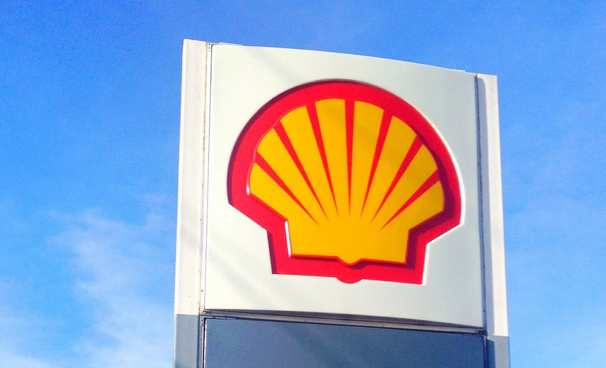 Shell logo signage