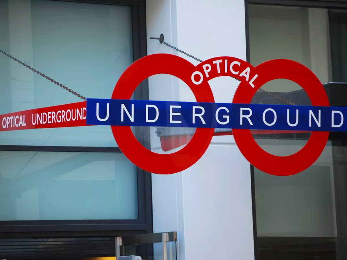 Optical Underground sign