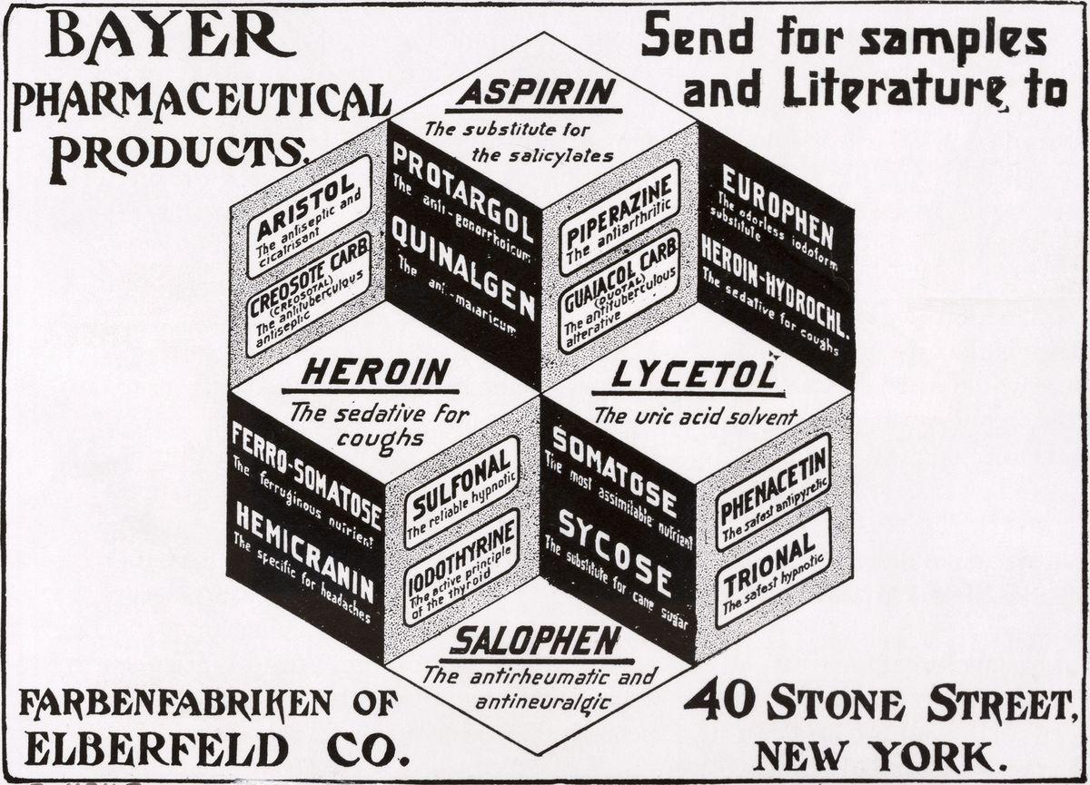 Bayer heroin ad 1911