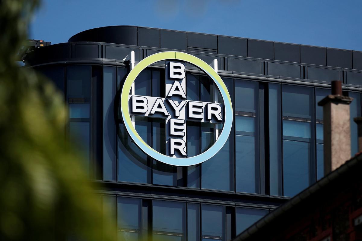 Bayer logo signage