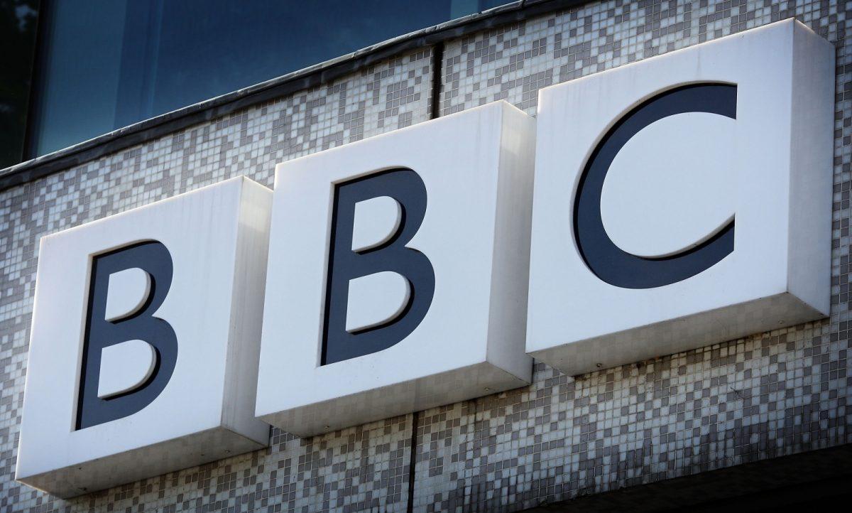 BBC logo signage